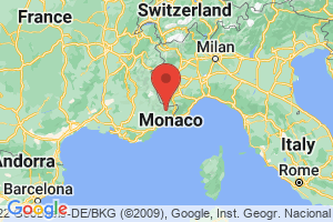 Map of French Riviera - Cote d'Azur