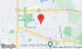 Map of 44 Village Court ELGIN, IL 60120