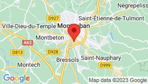 Carte de localisation du centre de contrôle technique Montauban