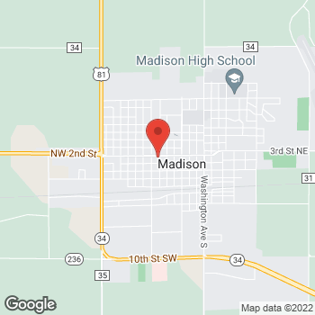 Map of Taco John's at 223 N Josephine Ave, Madison, SD 57042