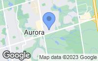 Map of Aurora, ON