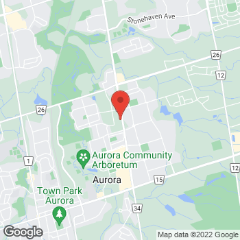 Map of Panera Bread at 15610 Bayview Avenue, Aurora, ON L4G 0Y7