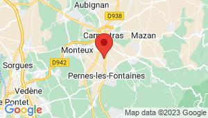 Carte de localisation du centre de contrôle technique PERNES LES FONTAINES