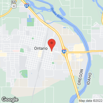 Map of Taco Bell at 382 E Idaho Ave, Ontario, OR 97914