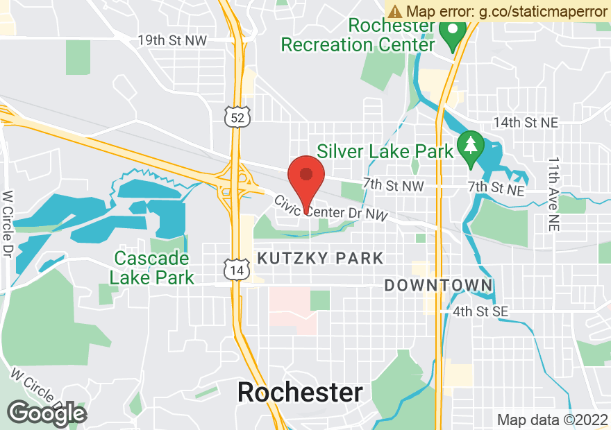 Google Map of 1112 CIVIC CENTER DR NW