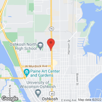 Map of Check `n Go Jackson Street at 2327 Jackson Street, Oshkosh, WI 54901
