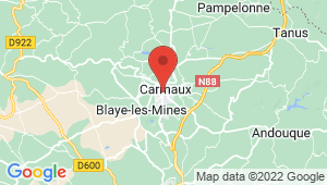 Carte de localisation du centre de contrôle technique CARMAUX