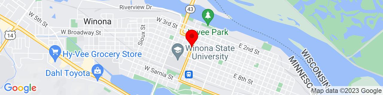 Google Map of 44.049963, -91.6393152