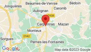 Carte de localisation du centre de contrôle technique CARPENTRAS