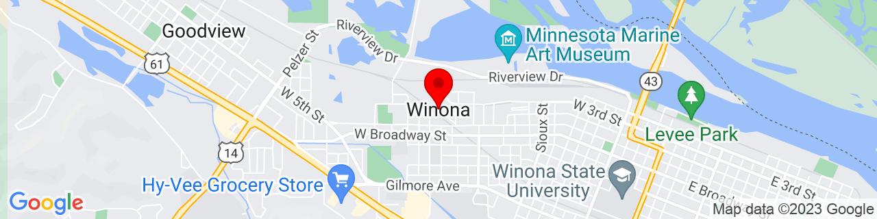 Google Map of 44.0553908, -91.6663523