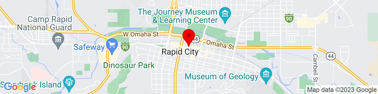 Google Map of 44.0815953, -103.228445
