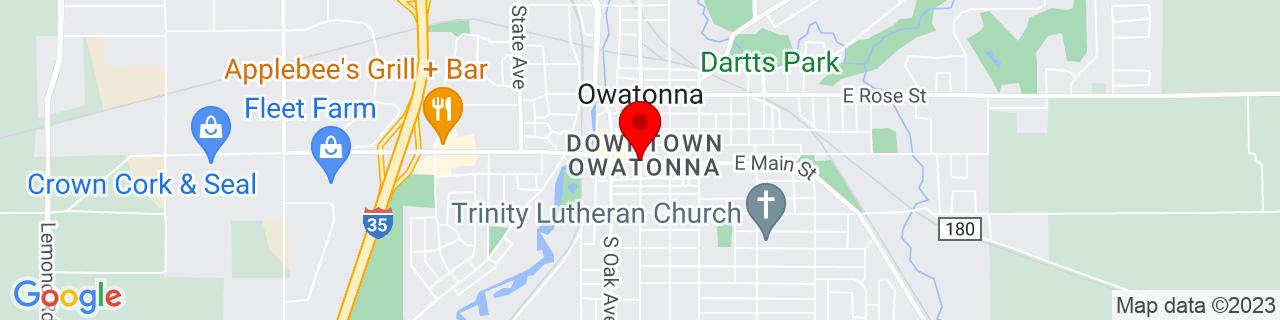 Google Map of 44.0838517, -93.226044