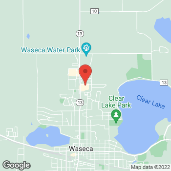 Map of Pizza Ranch at 212 17th Avenue NE, Waseca, MN 56093