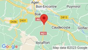 Carte de localisation du centre de contrôle technique Layrac