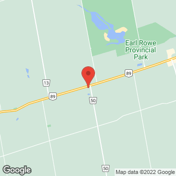Map of Tim Hortons at 4894 County Rd 50, Alliston, ON L9R 1V1