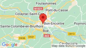 Carte de localisation du centre de contrôle technique AGEN