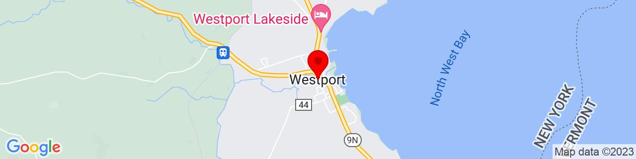 Google Map of 44.18388888888889, -73.43555555555555