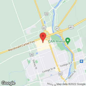 Map of LensCrafters at 390 North Front St, Belleville, ON K8P 3E1