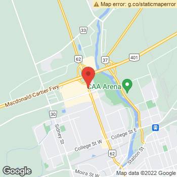 Map of Dr. Hiten Negandhi & Associates at 390 North Front Street, Belleville, ON K8P 3E1