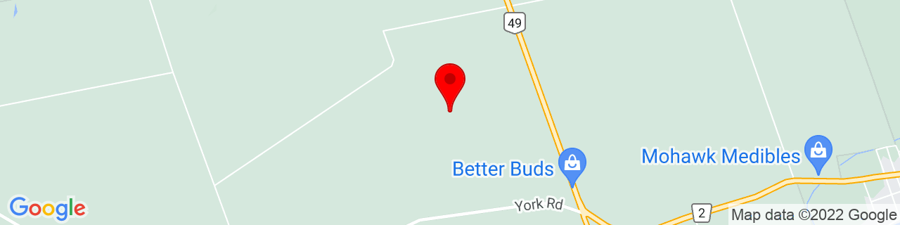 Google Map of 44.20214166666667, -77.10857222222222