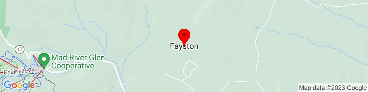 Google Map of 44.2074374, -72.8756638