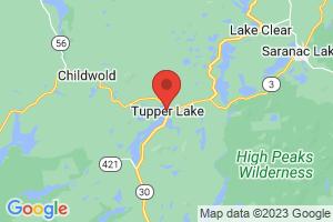 Map of Tupper Lake