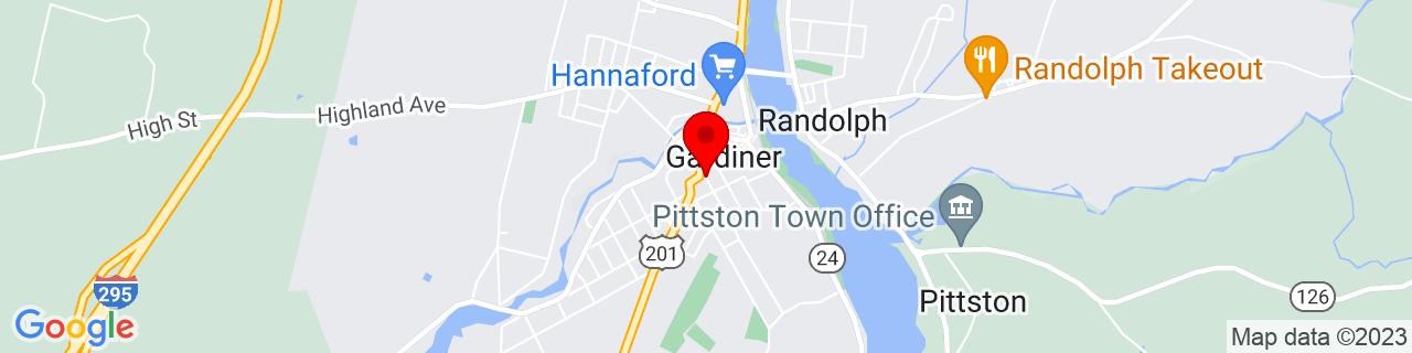 Google Map of 44.22742909999999, -69.7746877