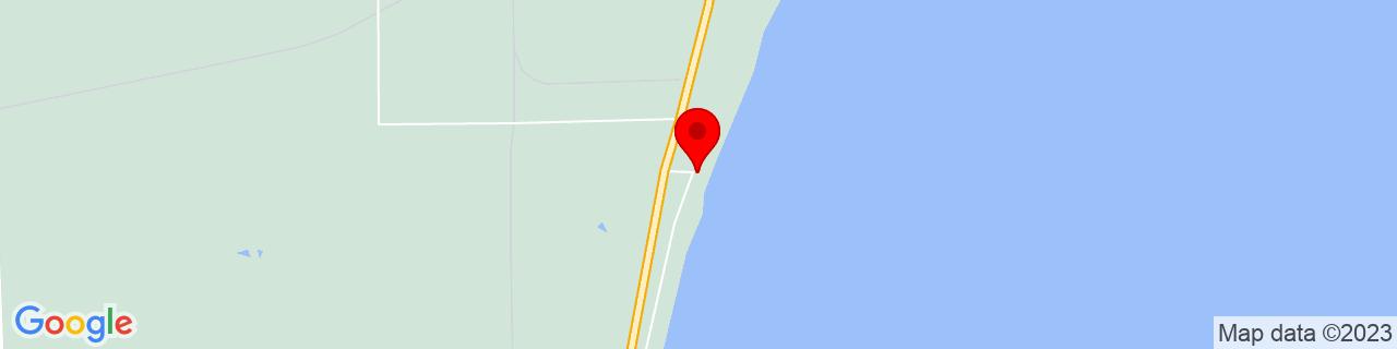 Google Map of 44.2330727, -83.5474763