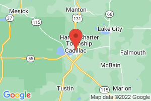 Map of Cadillac