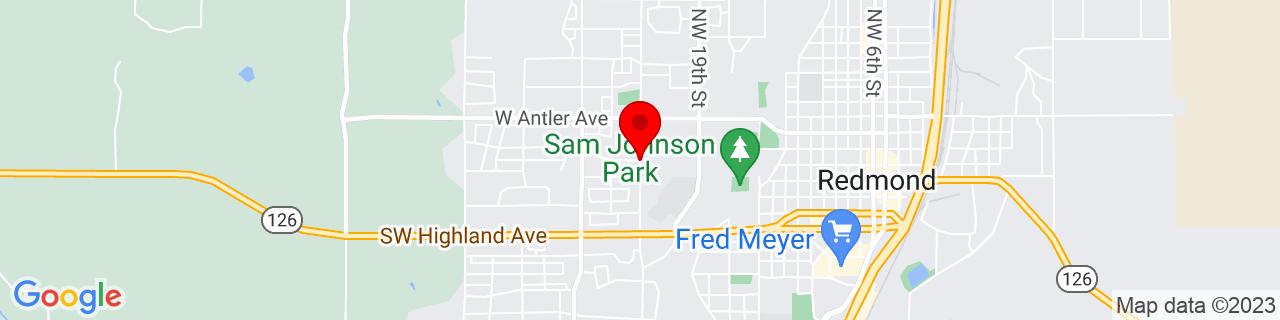Google Map of 44.2738085, -121.1942825