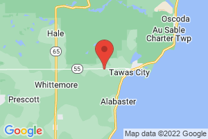 Map of Tawas City
