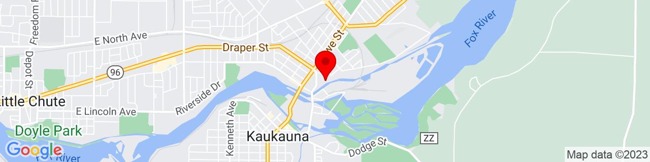 Google Map of 44.282472, -88.263927
