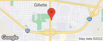 Map of 1001 S Douglas Hwy in Gillette