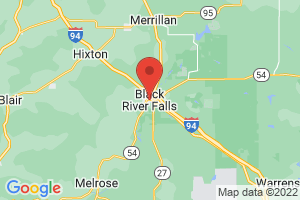 Map of Black River Falls