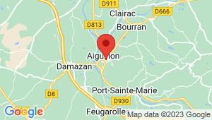 Carte de localisation du centre de contrôle technique AIGUILLON