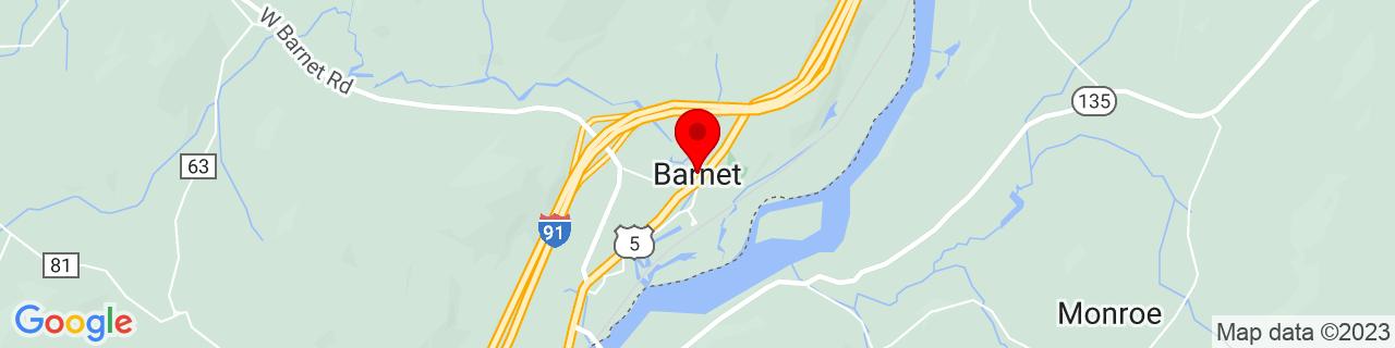 Google Map of 44.2968323, -72.0493779