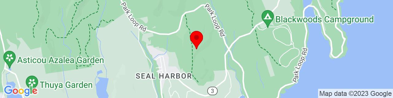 Google Map of 44.3087009, -68.2307558