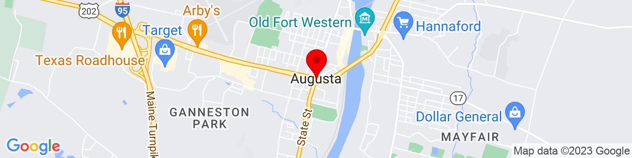 Google Map of 44.31055555555555, -69.77944444444444