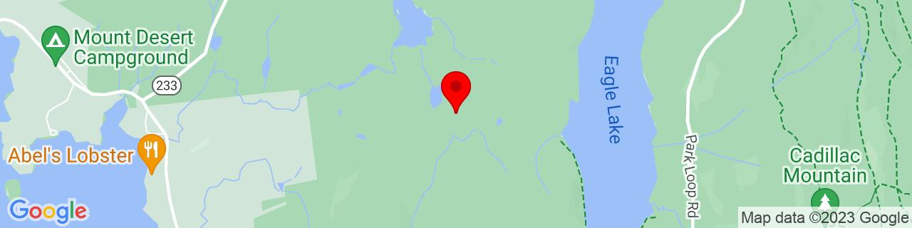 Google Map of 44.3624001, -68.2695324