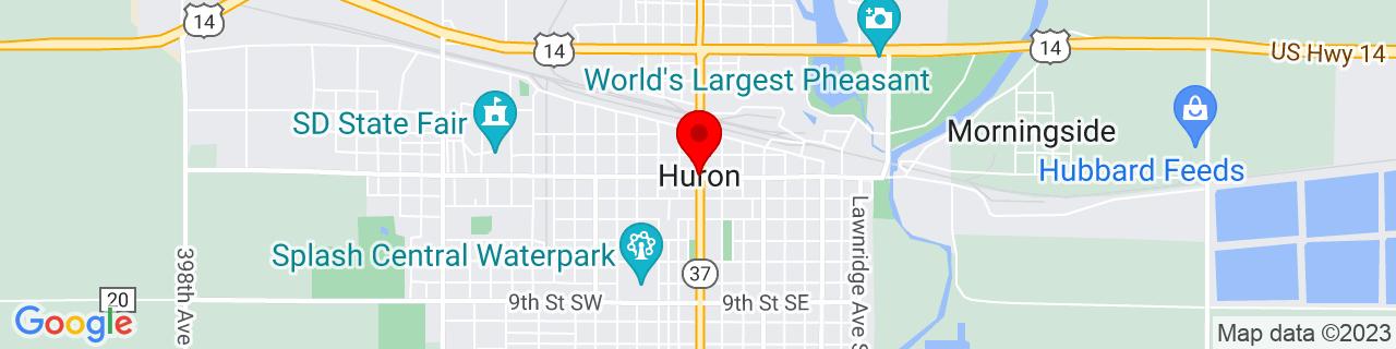 Google Map of 44.3633173, -98.21425719999999