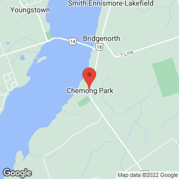 Map of Tim Hortons at 758 Ward St North, Bridgenorth, ON K0L 2H0