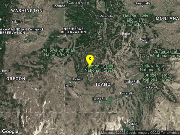 earthquake 25 km NW of Stanley, Idaho