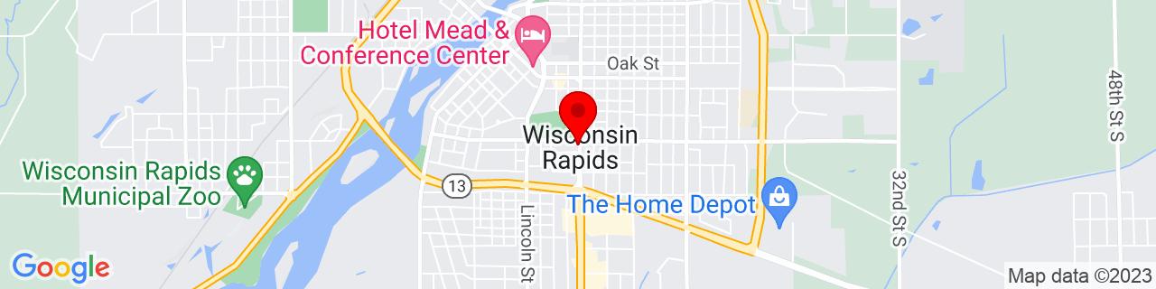 Google Map of 44.3835763, -89.8173466