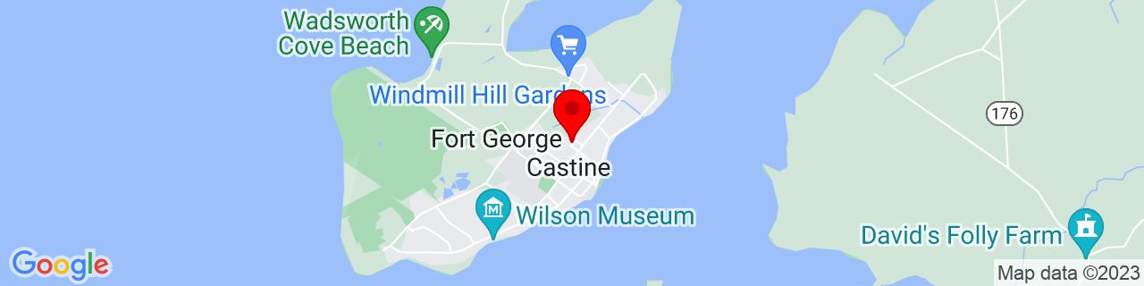 Google Map of 44.3905022, -68.7986112
