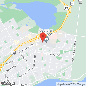 Map of Tim Hortons - Temporarily Closed at 1 Georgian Drive, Barrie, ON L4M 3X7