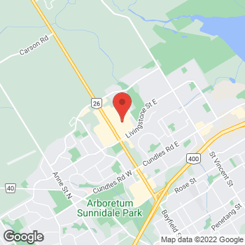 Map of LensCrafters at 509 Bayfield Street, Barrie, ON L4M 4Z8