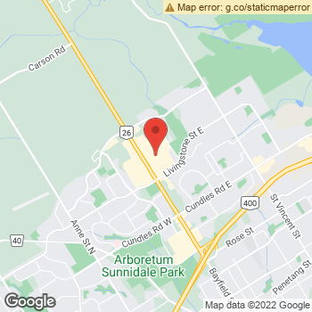 Map of American Eagle Store at 509 Bayfield Street, Barrie, ON L4M4Z8