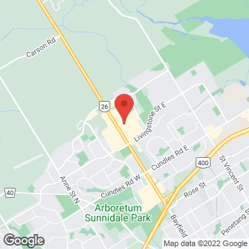 Map of GUESS at 509 Bayfield Street, Barrie, ON L4M4Z8