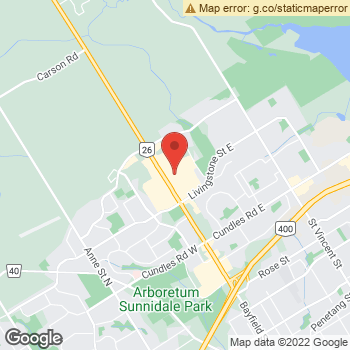 Map of Dr. Richard Roberti and Associates at 509 Bayfield Street, Barrie, ON L4M 4Z8