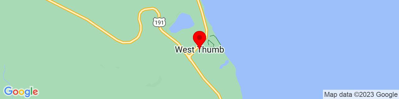 Google Map of 44.4154952, -110.5754846